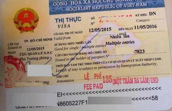 Mẫu dấu visa công tác 1 năm